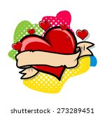 retro heart colorful background | Shutterstock .eps vector #273289451