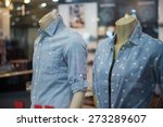 Mannequins In Blue Jeans Shirts ...
