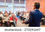 speaker at business conference... | Shutterstock . vector #273291647