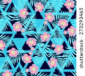 fashion seamless nature exotic... | Shutterstock .eps vector #273293465