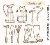set of garden tools. hand drawn ... | Shutterstock .eps vector #273294857
