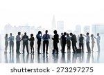 business people communication... | Shutterstock . vector #273297275