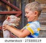 Young Farmer   Cute Boy Holdin...