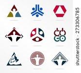 set vector sport logo. | Shutterstock .eps vector #273306785