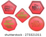 high quality set of sale... | Shutterstock . vector #273321311