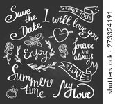 vector hand drawn phrases and... | Shutterstock .eps vector #273324191