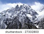 high mountains. caucasus. tsey. | Shutterstock . vector #27332803