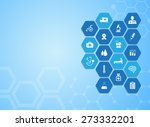 medical background and icons to ... | Shutterstock .eps vector #273332201