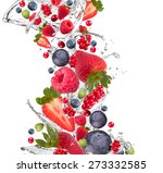 Fresh Fruits  Berries Falling...
