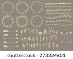 hand drawn vintage arrows ... | Shutterstock .eps vector #273334601