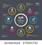 vector info graphic design... | Shutterstock .eps vector #273341741