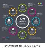 vector info graphic design... | Shutterstock .eps vector #273341741