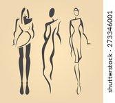 fashion models | Shutterstock .eps vector #273346001
