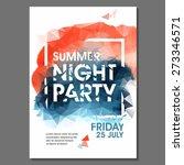 summer night party vector flyer ... | Shutterstock .eps vector #273346571