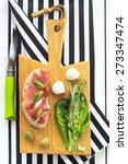 sandwiches on a wooden... | Shutterstock . vector #273347474