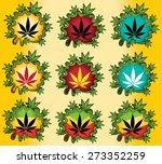 marijuana cannabis leaf vector...