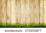 Background Of Wooden Fence And...