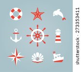 sea icon collection isolated on ...   Shutterstock .eps vector #273353411