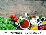 gazpacho  vegetarian food ...   Shutterstock . vector #273355925