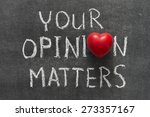 your opinion matters phrase... | Shutterstock . vector #273357167