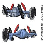 rear axle assembly with... | Shutterstock .eps vector #273359861