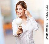blond woman having an idea | Shutterstock . vector #273376661
