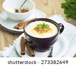 vanilla rice pudding with... | Shutterstock . vector #273382649