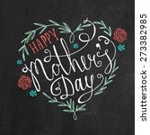 vintage happy mother's day... | Shutterstock .eps vector #273382985