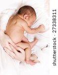 newborn sleeping child in the... | Shutterstock . vector #27338311