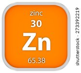 zinc material on the periodic... | Shutterstock . vector #273392219