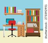 office design over white... | Shutterstock .eps vector #273392951