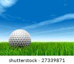 3d white golf ball in green... | Shutterstock . vector #27339871
