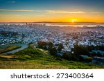 sunrise view from twin peaks ... | Shutterstock . vector #273400364