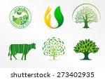 Eco. Vector Logo.