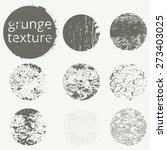 vector set of grunge circles.... | Shutterstock .eps vector #273403025