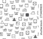 seamless pattern. laundry... | Shutterstock .eps vector #273409835