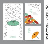 Colorful Umbrellas And Rain...