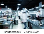 modern kitchen and busy chefs... | Shutterstock . vector #273413624