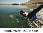 open water swimming. male... | Shutterstock . vector #273416585