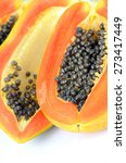 Small photo of Ripe papaya, Pawpaw or Tree melon (Carica papaya L) which Rich in Betacarotene, Vitamin C, Fiber and Papain Enzyme.
