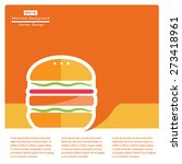 burger flat icon with long... | Shutterstock .eps vector #273418961