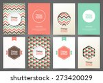 set of brochures in vintage... | Shutterstock .eps vector #273420029