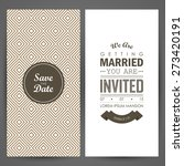 wedding invitation. vector... | Shutterstock .eps vector #273420191