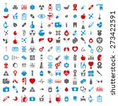 medical icons set  set of 144... | Shutterstock . vector #273422591