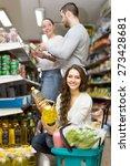 positive smiling customers... | Shutterstock . vector #273428681
