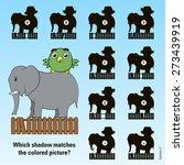 kids cartoon puzzle   match the ... | Shutterstock .eps vector #273439919