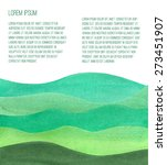 watercolor green hills. vector... | Shutterstock .eps vector #273451907