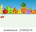 colorful healthy fruit... | Shutterstock .eps vector #273455174
