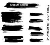vector set of grunge brush | Shutterstock .eps vector #273455819