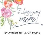 happy mother's day card with... | Shutterstock .eps vector #273459341